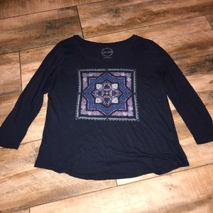 Lucky Brand - Patterned Long Sleeve Tee (L)